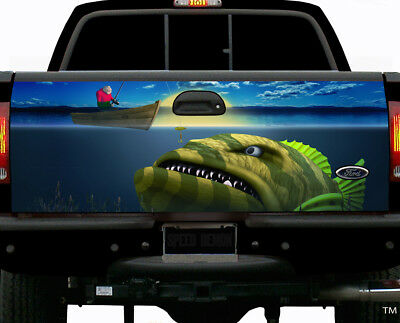 Going Fishing Boat Fish Graphics Tailgate Wrap Vinyl Graphic Truck Accessories