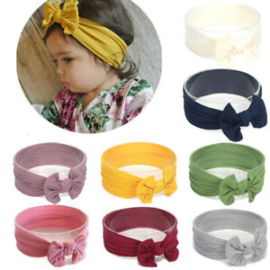 KE-ITS-Soft-Newborn-Baby-Girls-Solid-Color-Cute-Bowknot-Stretchy-Hairband-He