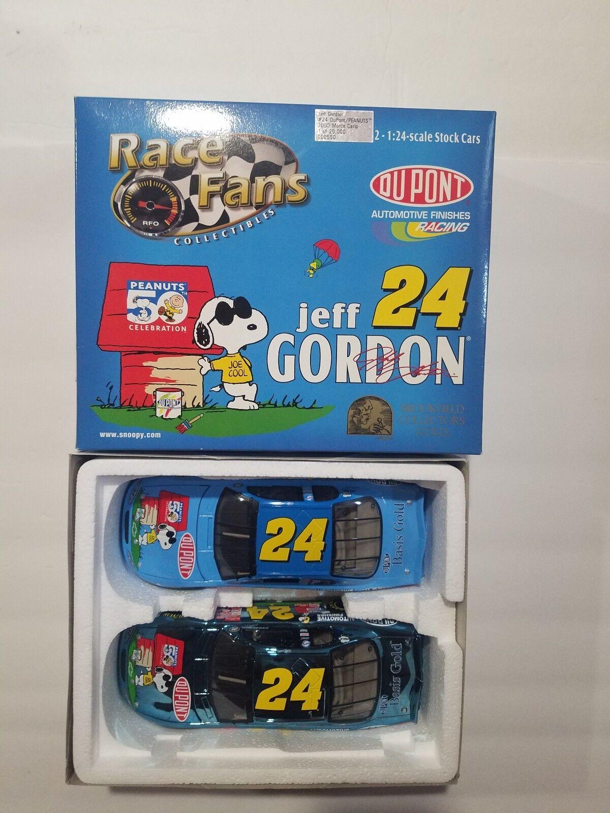 Jeff Gordon numéro 24 Dupont Peanuts 2000 MONTE CARLO 1 de 20,000 2 - 1 24