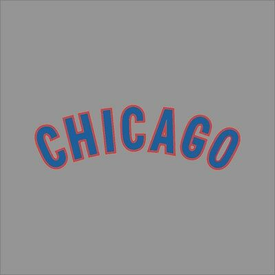 Chicago Cubs #4 MLB Team Logo Vinyl Decal Sticker Car Window Wall Cornhole