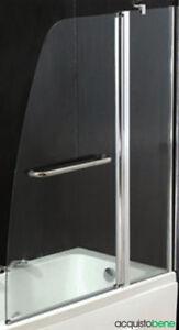 Parete Vetro Doccia Per Vasca Da Bagno.Dettagli Su Parete Sopravasca Doccia Box In Cristallo Da 6 Mm 120xh140 Cm Per Vasca Da Bagno