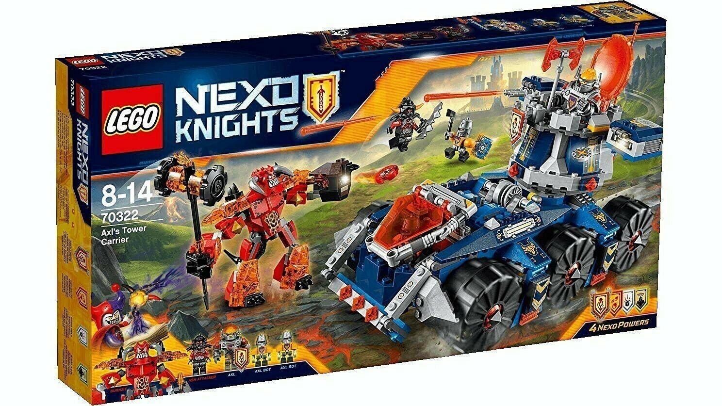 LEGO NEXO  KNIGHTS 70322 Axl's Tower voiturerier Neuf  Nouvelle liste