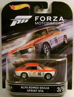 Alfa Romeo Giulia Sprint Gta Rr Forza Motorsport 3/5 Hot Wheels 2016
