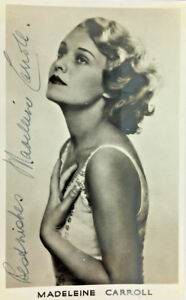 MADELEINE-CARROLL-ACTRESS-AUTOGRAPH-SIGNED-REAL-PHOTO-POSTCARD-RPPC-UNPOSTED