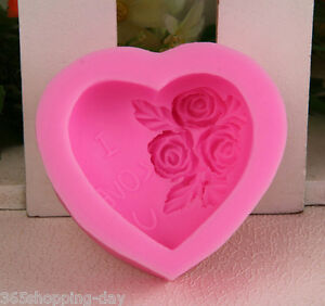 1PCS Small Size Love Shape Silicone Cake Mold For Fondant ...