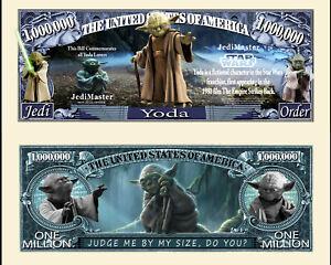 STAR-WARS-YODA-BILLET-1-MILLION-DOLLAR-US-Collection-Ordre-Jedi-Dagobah-SW