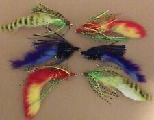 6 SKYKOMISH FLY FISHING FLIES WHITE MARABOU DEER HAIR MINI DIVER Sz 10