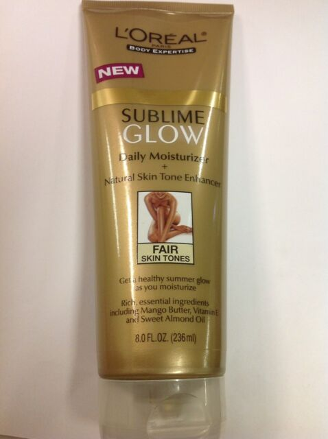 L'Oreal Sublime GLow Daily Moisturizer+Natural Skin Tone Enhancer FAIR 8 oz New
