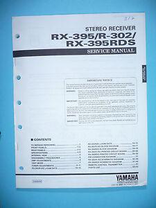 original Tv, Video & Audio Freundschaftlich Service Manual Für Yamaha Rx-395/r-302