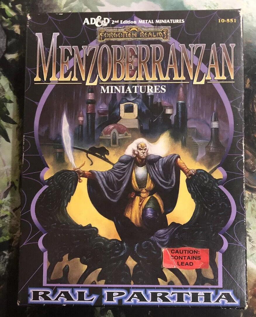 AD&D 2nd Edition   Siezoberranzan Metal Miniature Figurines + Original Box - JS