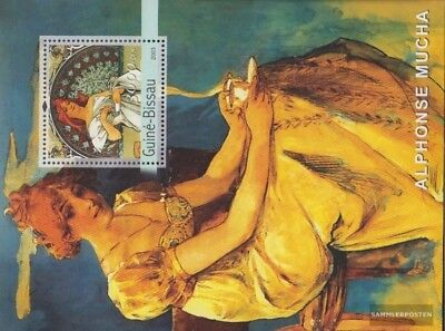 Stamps Honey Guinea-bissau Block437 Unmounted Mint Never Hinged 2003 Paintings