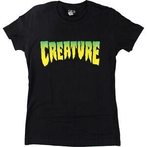 Creature-Logo-Girls-T-Shirt-Size-LARGE-Black