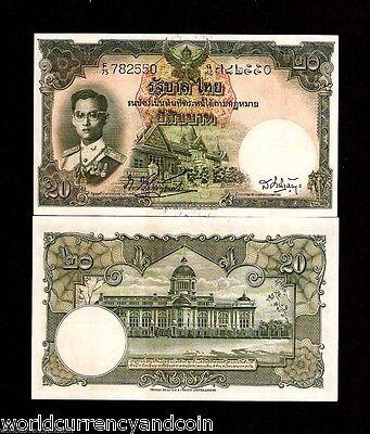 THAILAND 10 BAHT P76 b 1953 KING BHUMIBOL UNC SIGN 34 RAMA DE LA RUE MONEY NOTE