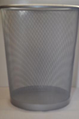 Papierkorb - Metall Abfallkorb Draht -papiereimer - Papiersammler Silber