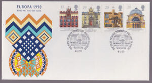 Great-Britain-1990-FDC-Cover-Europa-Architecture-Buildings-Glasgow-School-Art