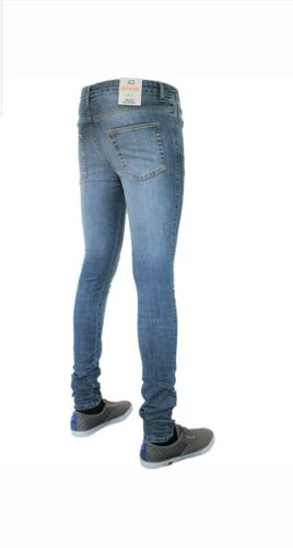 MENS DESIGNER BRANDED AD SPRAY ON SKINNY STRETCH JEANS ZIP FLY VARIOUS COLOURS