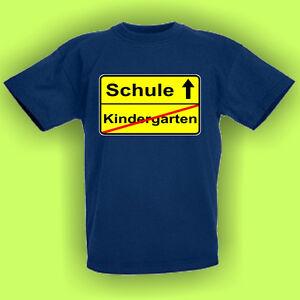Kindergarten Schule Einschulung Kinder Fun T Shirt Sprüche F0026 E