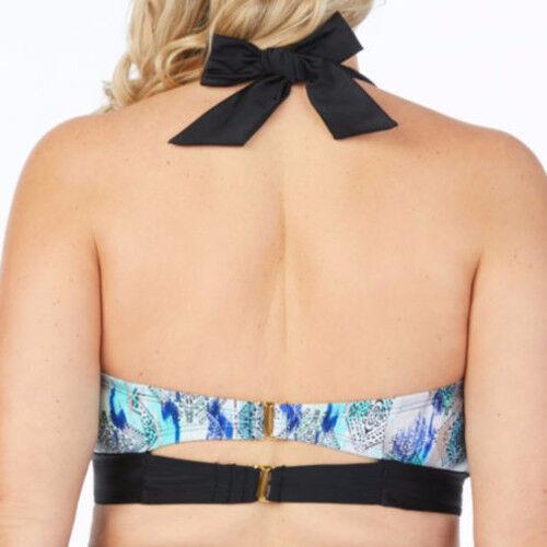 e7257c65c18cf Buy JCP Boutique Halter Bandeaukini Swimsuit Top Plus Size 3x Blue ...