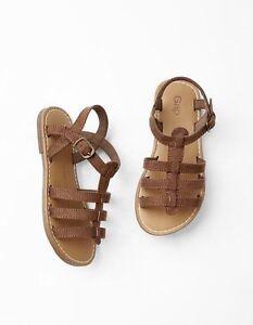 4c331f70b GAP Kids   Toddler Girls Size 11 US Brown   Beige Gladiator Sandals ...
