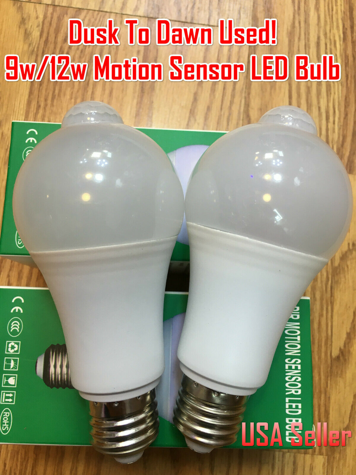 Outdoor Motion Radar Sensor Light Dusk Dawn Led Bulb Energy Saving Detection For Sale Online Ebay