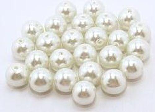 25 de la Renaissance//Baroque Perles Environ 10 mm weißsilber Couleurs