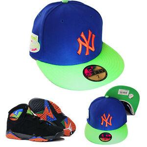 New-Era-York-Yankees-5950-Cappello-Aderente-Nike-Jordan-7-Retro-Arancione-Verde