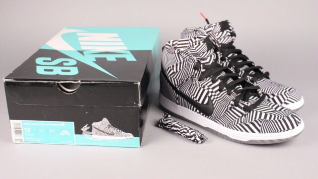 """100% authentic 72589 a2d26 Nike Sb Dunk High Premium QS Dazzle """"Concept Car"""" Zebra Stripes Size 12  Supreme"""