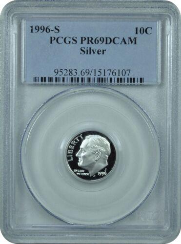 1996-S PCGS PR69DCAM Silver Roosevelt Dime Classic Label