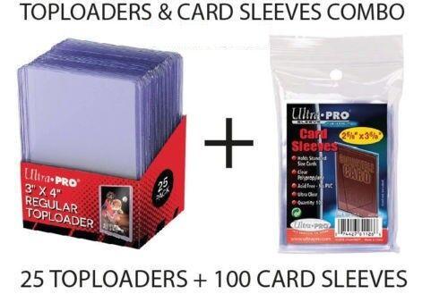 25 x Ultra Pro Regular 35pt Top Loader TopLoader 100 x Penny Card Sleeves