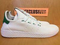 Adidas Pharrell Williams Tennis HU White Green PW Human Race BA7828 SZ 8-13
