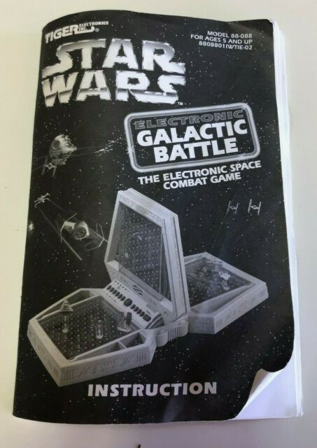 Star Wars Galactic Battle Game Instructions ONLY - Tiger Electronic
