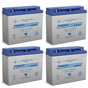 Power-Sonic-4-Pack-Powersonic-PS-12180NB-12v-18Ah-Lead-Acid-Battery
