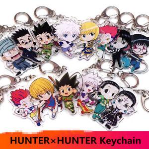 HUNTER-x-HUNTER-Key-Chains-Two-sided-Keychain-Cosplay-Acrylic-Pendant-Keyring