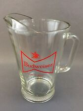 Budweiser Beer Clear Glass Pitcher CLASSIC BUD