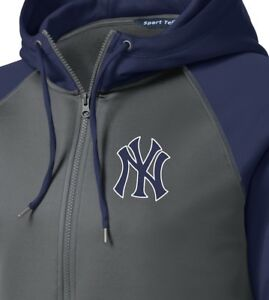 timeless design ca633 0eb03 Details about New York Yankees Men's Hoodie Sweatshirt Full Zip Hooded  Jacket Size XS-4XL