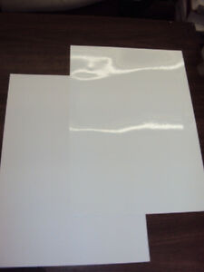 2 Blank White Sheets Window Static Cling Decal Vinyl Film