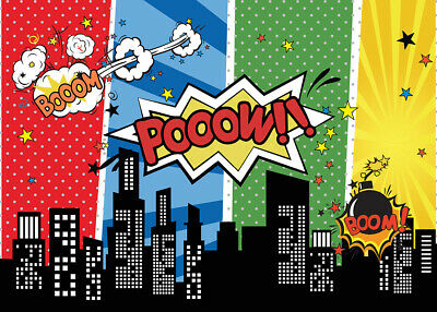 Backgrounds for Photo Studio Super Hero City Party Photography Backgrounds G