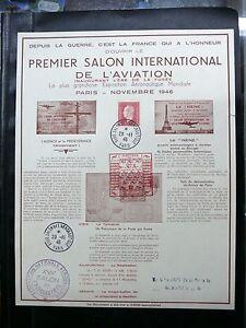 TIMBRES-DE-FRANCE-PREMIER-SALON-INTERNATIONAL-DE-L-039-AVIATION-PARIS-NOVEMBRE1946