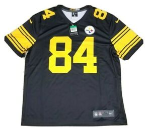 NEW Antonio Brown #84 Pittsburgh Steelers NFL Nike Color Rush Adult Jersey NWT