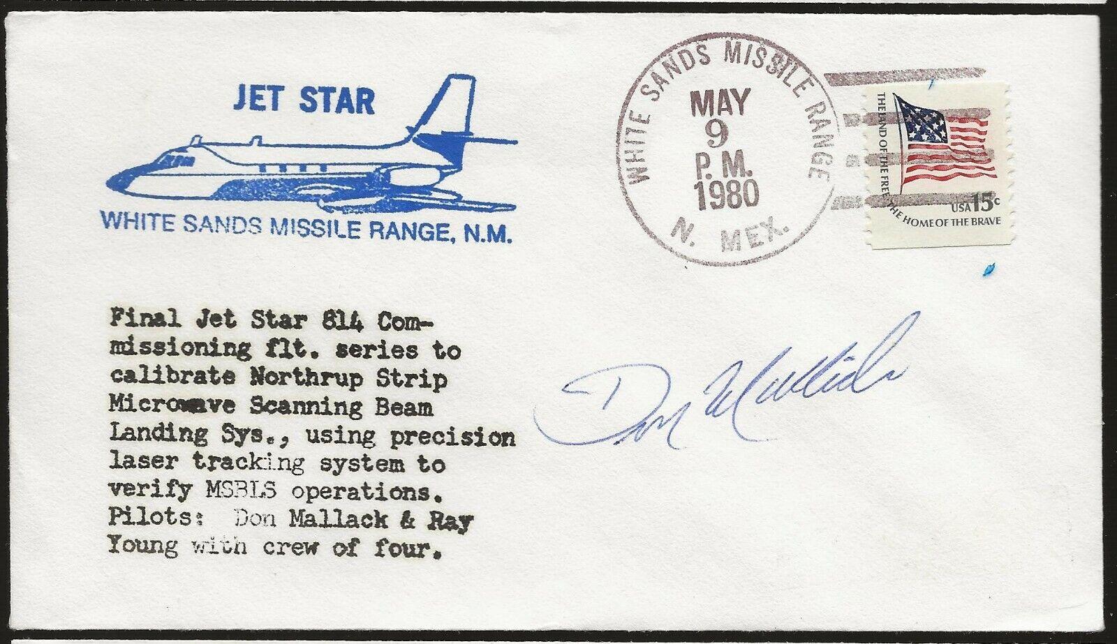 s l1600 - 1980 Jetstar Shuttle Test Flights Autographed by Astronaut Don Mallick
