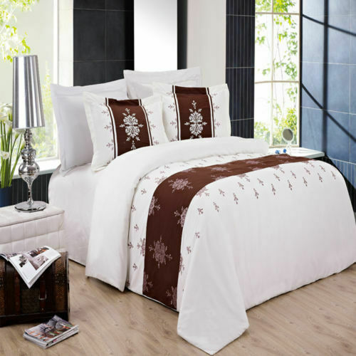 4PC OR 8PC Soft and Smooth Eleanor Embroiderot Easy Care Microfiber Bedding Set