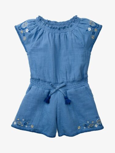EX MINI BODEN EMBROIDERED SHORTIE PLAYSUIT ORANGE OR BLUE new!
