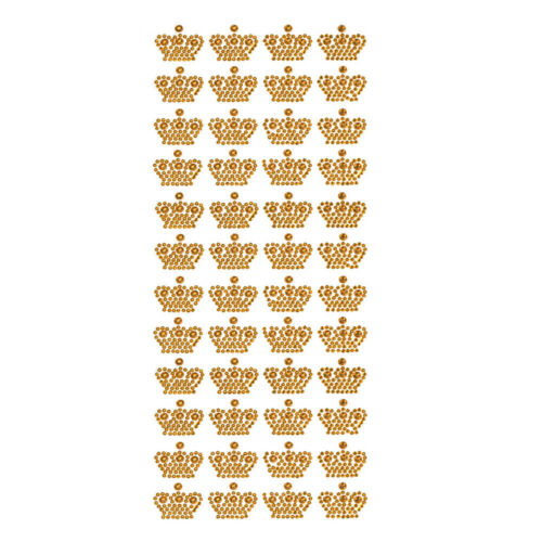 Royal Crown Rhinestone Stickers 3//4-Inch 48-Count