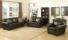 Astounding Evelyn 3 Pc Dark Brown Leather Gel Reclining Sofa Set With Cjindustries Chair Design For Home Cjindustriesco