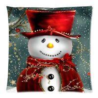 Christmas Snowman Glitter Pillowcase Cushion Sofa Pillow Covers Home Decor