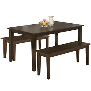 Dining Table Set Dining Table Kitchen Table And Bench For 4 Dining Room Table Ebay