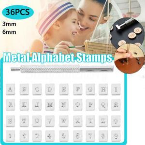 36pcs Metal Leather Stamp Alphabet Letter Punch Set Logo Stamp Craft Tools Kit