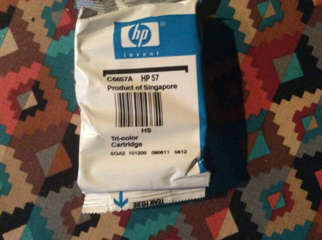 HP 57 Tri-Color Ink Cartridge,OEM Genuine New Factory Sealed,