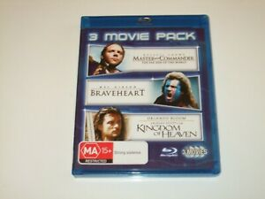 Master-and-Commander-Braveheart-Kingdom-Of-Heaven-Blu-Ray-Free-Postage