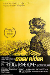 (LAMINATED) EASY RIDER MOVIE POSTER (91x61cm) ONE SHEET NEW LICENSED ART